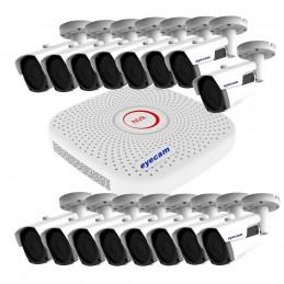 EyecamSistem supraveghere video IP 16 camere exterior Starvis 60m 1080P Eyecam