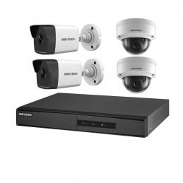 HIKVISIONSistem supraveghere IP 4 canale POE Hikvision NK42E3H-1T(WD)