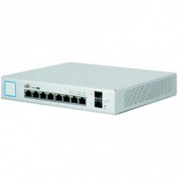 """Ubiquiti 8-Port Fully Managed PoE+ Gigabit Switch with 2 SFP ports,150W Power Supply, EU"""